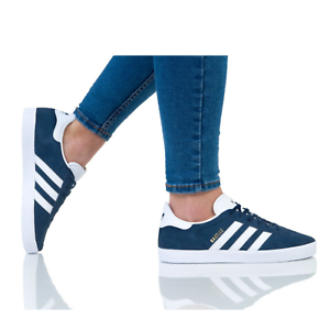 Details about Adidas Originals Gazelle Navy BY9144 Women's Trainers Suede Casual Shoes