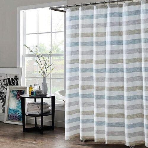 "Blue Size Kas Room Greta Striped Shower Curtain 72/""x84/"""