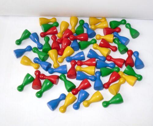 """4 Farben gemischt Spielfiguren 60 Stück Halmakegel /""""Standard/"""" aus Holz 25 mm"""
