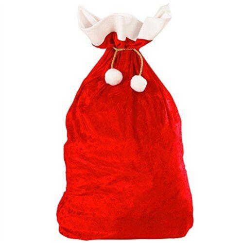 VELVET sacchi di Natale 60 x 100 cm Accessorio per festa di Natale Fancy Dress