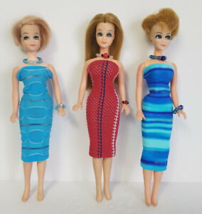 DAWN-DOLL-CLOTHES-9-Piece-Lot-Dresses-and-Jewelry-Fashions-NO-DOLL-dolls4emma-D