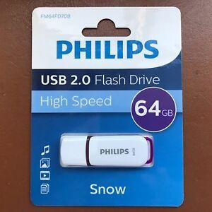 Philips-nieve-de-alta-velocidad-USB-64-GB-Unidad-Flash-Memoria-Portatil-Pen-Drive