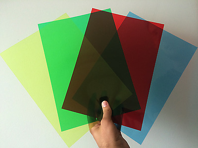 Clear & Coloured A3/A4/A5 Acetate Sheets -Thin Flexible Plastic OHP PVC Gel Film