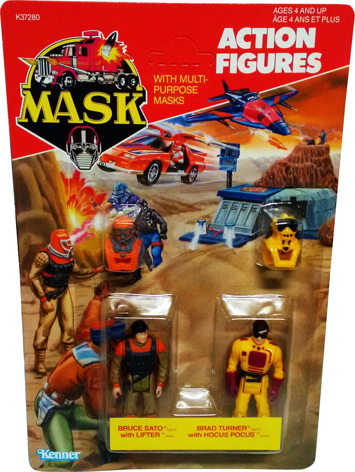 M.a.s.k. Mask Kenner-Bruce Sato & & & Brad Turner, 1986, Coleccionable menta en tarjeta sellada Figura de Acción autoridad él   barato en línea