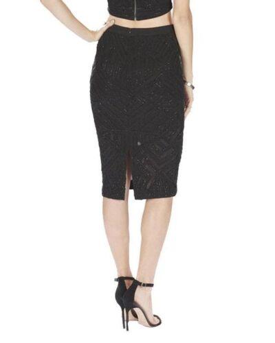 2 4 6 NWT Parker /'Sandia/' Beaded Geometric Pencil Skirt Black Size 0