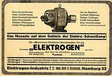 Elektro-Schweißung Pat.Gleichstrom-Schweißmaschine Historische Annonce 1923