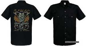 hd Shirt amp; Oldschoolmotiv Biker Wicked Worker Vintage Modell The Schwarz O4WRndqa