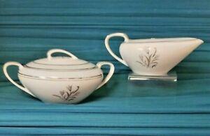 Vintage Noritake China BLUEBELL #5558  Sugar Bowl and Creamer set platinum Japan