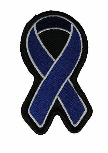 Dark Blue Ribbon For Colon Cancer Awareness Patch Iron On For Sale Online