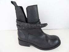 NWT $350 DIESEL Womens Roxy Roll Sashan Black Leather Motorcycle Boots Shoes 5