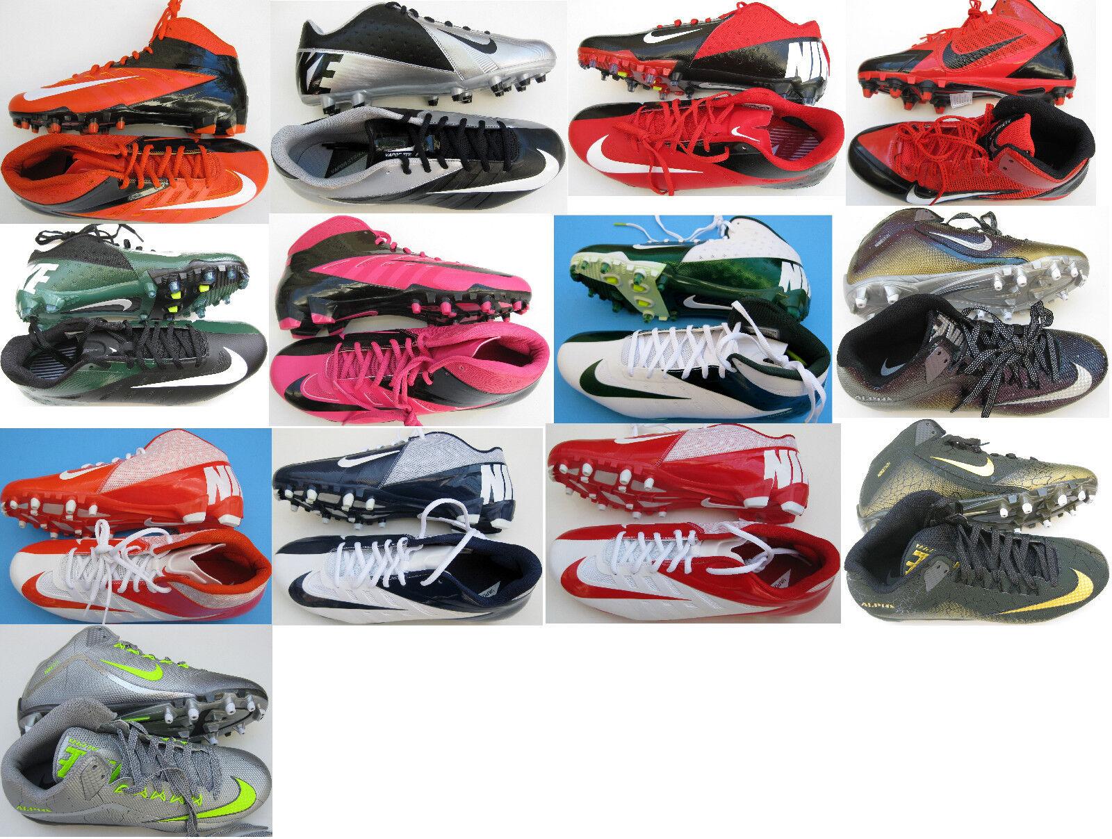 New Nike Vapor Strike/elite Low,Alpha Pro 3/4 Mid Mens Football Cleats Pck 1