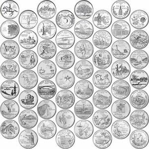 COMPLETE-US-112-STATES-QUARTER-BU-DOLLAR-P-or-D-MINT-COINS-PICK-YOURS-1999-2009
