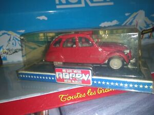 NOREV-1-43-JET-CAR-SERIE-700-MADE-IN-FRANCE-CITROEN-2CV-ROUGE-NEUF-EN-BOITE