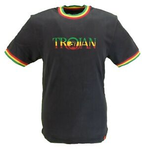 Trojan-Records-100-Cotton-Black-Jamaica-Logo-T-Shirt