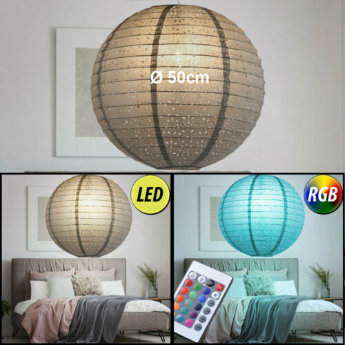 LED Kugel Hänge Lampen RGB Fernbedienung Schlaf Zimmer Decken Leuchten dimmbar