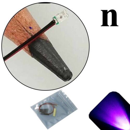 5 x 12v 0603 1608 UV Purple Nano SMD LED Pre-Wired Light Soldered Leads 9v 18v