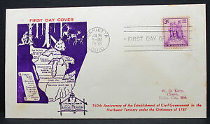US-Levy-Cachet-Cover-FDC-Marietta-Territory-Stamp-3c-USA-First-Day-Cover-H-7583