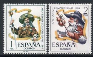 ESPANA-1965-SERIE-NUEVA-SIN-FIJASELLOS-MNH-SPAIN-EDIFIL-1672-73-ANO-SANTO