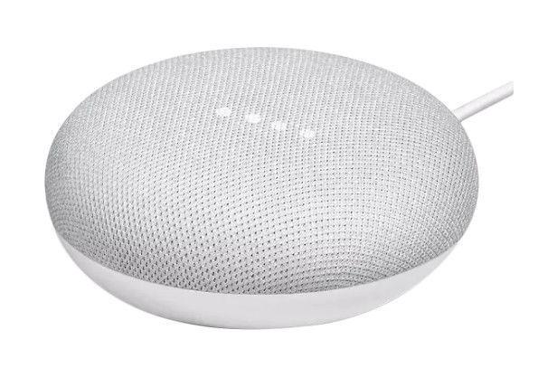Google Home Mini  Speaker Smart Assistant  Chalk Grey *Damaged box * New item