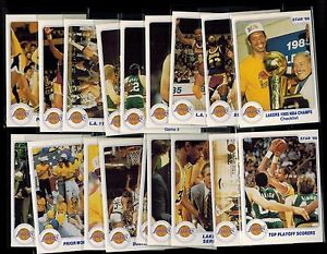 1986-Star-LAKERS-CHAMPS-set-complete-set-of-18-cards-034-Lakers-SHOWTIME-set-034