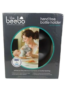 The Beebo Hands Free Bottle Holder Grey Chest Baby Feeding Adjustable