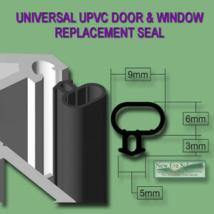 uPVC Window /& Door Gasket Seal Double Glazing Black Bubble Flipper Repair PVC