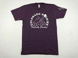 NEW-America-Apparel-Colorado-Rockies-Short-Sleeve-Shirt-Multiple-Sizes