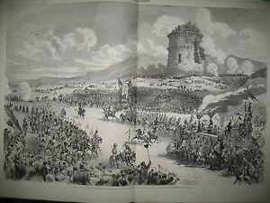 ITALIE-ROME-GROTTES-CERVARA-FETE-PRINTEMPS-INCENDIE-USINES-ELBEUF-GRAVURES-1870