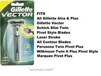 Gillette Vector Ft Atra Contour Plus Razor Blade Cartridge Refill Handle Shaver