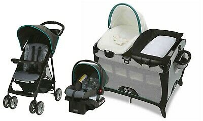 Baby Stroller With Car Seat Travel System Infant Nursery Crib
