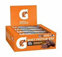 Gatorade Whey Protein Recover Bars Chocolate Chip 2.8 Ounce Bar... Free Shipping