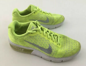 Details about Nike Air Max SEQUENT 2 GS 869994 700 VOLT Metallic Silver Junior Girl Size 4.5y