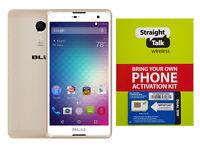 Straight Talk Phone Grand Android 6.0 Unlocked At&t 5.5 Hd Screen Free Sim Card