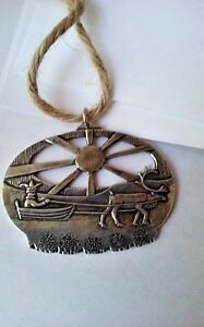 NEW Norway Uffda Pewter Ornament