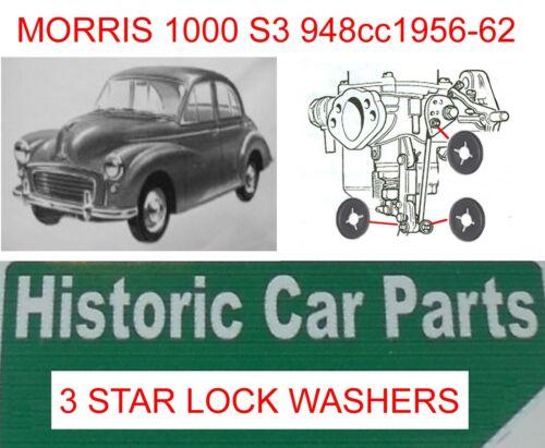 CARB 3 X star lock RONDELLE aud833 /& aud852 MORRIS MINOR 1000 1956-62 H2 3112