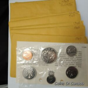 1969-Canada-Prooflike-6-Coin-Original-Set-Multiple-Sets-Available-coinsofcanada