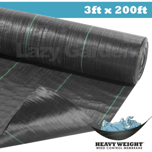 3ft weed control fabric garden landscape membrane ground cover driveway barrier