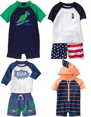 2f48122677 Gymboree Baby Boy Swim Shop Sets RashGuard Trunks 1 Piece 0 3 6 12 18 24