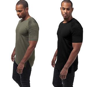 Urban-Classics-Pleat-Raglan-T-Shirt-Geriffelt-Lang-Uberlaenge-Longtee-Oversize