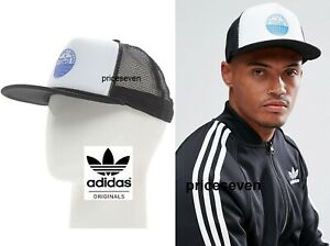 sneakers for cheap online for sale 2018 shoes Details about adidas Originals Heritage Trucker Black/White/Blue Snapback  Caps Hats *NEW