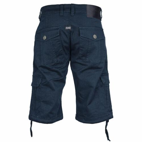 Uomo Casual Combat Pantaloncini stretch con tasche laterali cargo da Von Denim 30-44