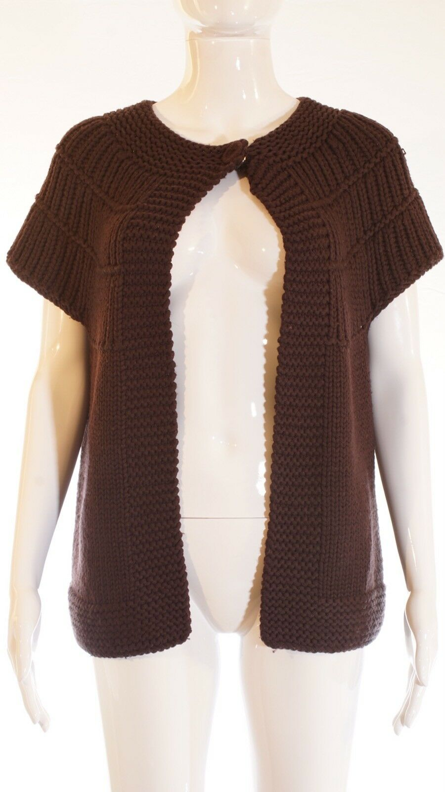 Paul & Joe Sweater Top Size Medium color Brown 100% Merino Wool