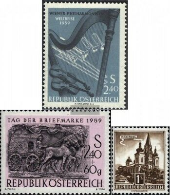 Never Hinged 1959 Speci Unmounted Mint Austria 1071,1072,1073 complete Issue