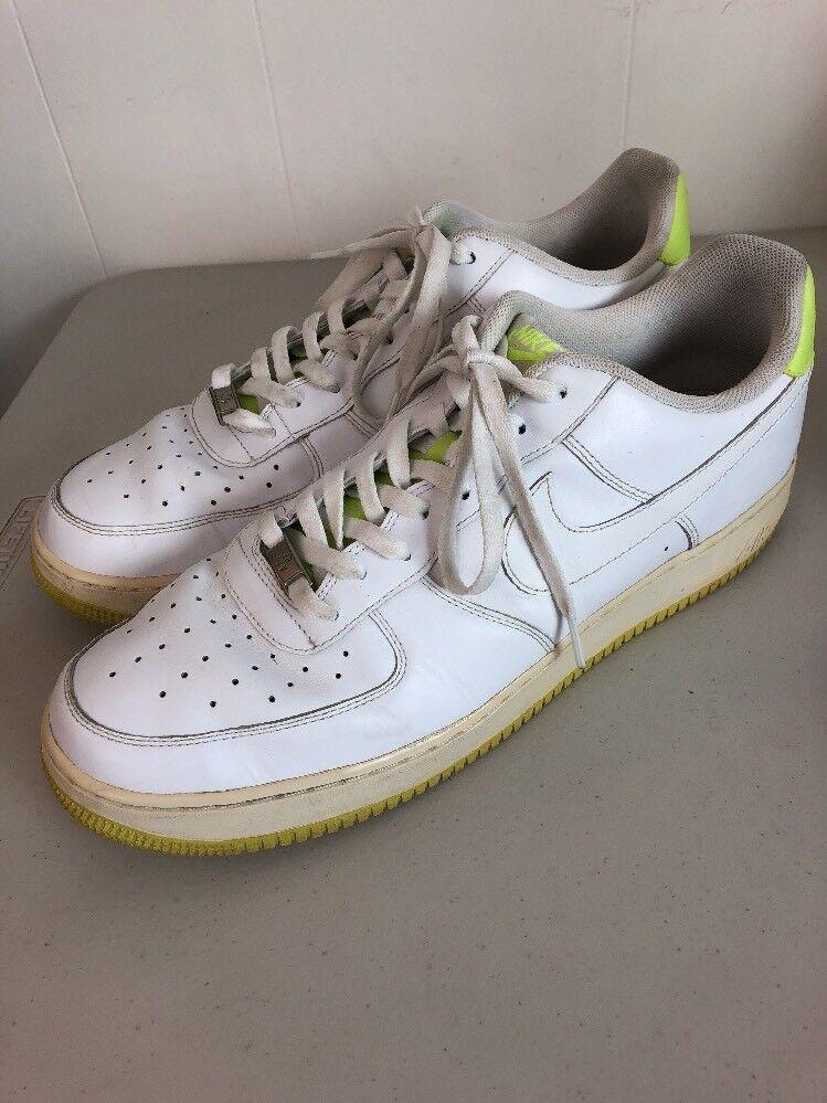 nike 2008 air force 1 des chaussures chaussures chaussures d'hommes de baskets taille 15 af-1 vert blanc volts 82 9c4de0