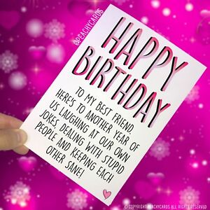 Enjoyable Funny Best Friend Birthday Card Greeting Cards Happy Birthday Funny Birthday Cards Online Aboleapandamsfinfo