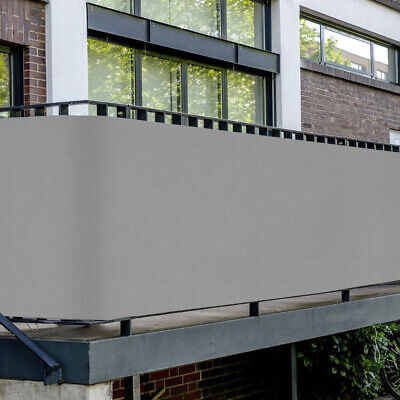 PVC Balkon Sichtschutz Sichtschutzfolie grau 6x0,75m Balkonabdeckung