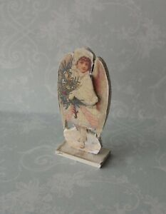 Dollhouse-Miniature-Standing-Christmas-Angel-1-12-OOAK-artist-holiday-room-decor