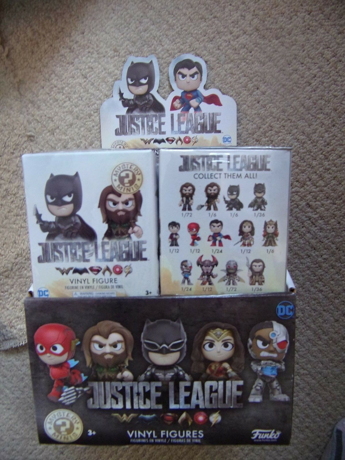 Funko Sealed Justice League Mystery Mini Figures Full Box of 12 Batman Aquaman +