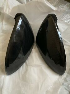 For 13-19 VW Golf Mk7 7.5 Gti Tdi Carbon Fibre Effect Wing Mirror Covers OEM-Fit
