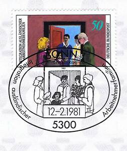 GéNéReuse Rfa 1981: Intégration Nº 1086 Avec Le Bonner Ersttags Cachet Spécial! 1a! 156-stempel! 1a! 156fr-fr Afficher Le Titre D'origine